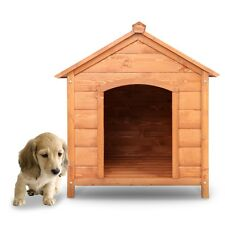 Outdoor Dog Puppy Pet Wooden House Shelter Garden Patio Weatherproof - M L Size