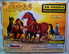 "3D PRE-COLORED WOOD PUZZLE ""HORSE"" BY PUZZLED"