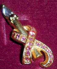 Seraphim Classic Pink Breast Cancer Costume Jewelry Pin Fashion Brooch Roman