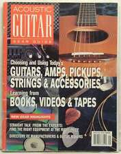 ACOUSTIC GUITAR MAGAZINE GEAR GUIDE AMPS PICKUPS STRINGS ACCESSORIES VERY RARE!!