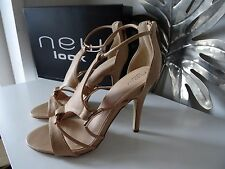 Womens sandals heels ivy nude beige gold uk size 5 brand new boxed
