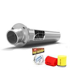 HMF Performance Slip On Exhaust Muffler Brush + Pro Design Foam Filter KFX 400