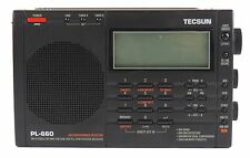 Used Tecsun PL-660 Portable AM/FM/LW/Air Shortwave World Band Radio Black