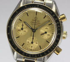 Auth OMEGA Speedmaster 3310.10 Automatic 18KYG/SS Men's Wrist Watch_284546