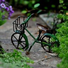 Metal Bike Bicycle green 83370 Miniature Garden Fairy Faerie Gnome Dollhouse