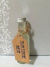 130  Wedding Favours Miniature Empty Glass Spirit Bottles 50ml