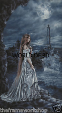 VICTORIA FRANCES THE BLUE LADY OF GENOA - 3D CULT FANTASY PICTURE 300mm x 400mm