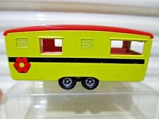 LESNEY MATCHBOX MB57B DkYellow ECCLES CARAVAN Black Stripe Dk Orange Roof C9*