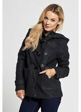 WOMENS BRAVE SOUL DUFFLE COAT LADIES FLEECE LINED TOGGLE HOODED WARM WINTER COAT