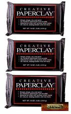 M00096x3 MOREZMORE 3lb Creative Paperclay Air Dry Paper Clay Art Doll Sculpting