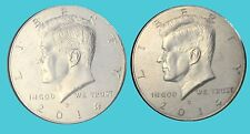 2014 P&D Kennedy Half Dollars Two Coins Set Uncirculated From Mint Rolls