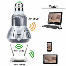 HD 1080P Full Hidden Mini WIFI IP Light Bulb Camera Motion Detection CCTV