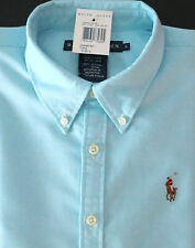 NEW RALPH LAUREN WOMEN'S LONG SLEEVE OXFORD BUTTON DOWN CLASSIC FIT SHIRT