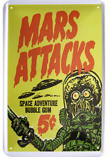 """MARS ATTACKS BUBBLE GUM"" DEKO MOTIV BLECHSCHILD TIN SIGN"