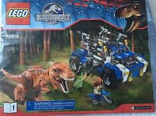 Lego Jurassic World 75918 T-Rex Tracker Instruction Book