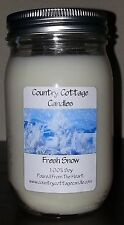 16 oz Hand Poured Soy Candle Fresh Snow.FREE SHIPPING