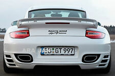 Sports mind Racing edition Vinyl Decal sport trunk sticker logo fits PORSCHE BLK