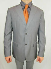 Mens MASSIMO DUTTI Wool Silk Tailored Tweed Suit Striped Jacket Blazer EU52 AS9