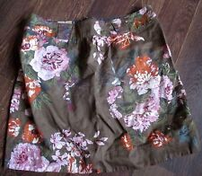JOULES FLORAL MINI SKIRT BEAUTIFUL BIG BLOOM FLOWERS SIZE 10 WAIST 32 LENGTH 16