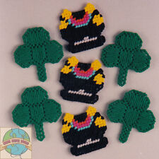 Plastic Canvas Kit Design Works Set of 7 St. Patrick's Magnets #DW1343 OOP SALE!