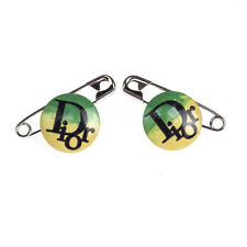 Dior Rasta Safety Pin Earrings