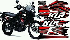 Kawasaki KLR 650 2014 stickers decals graphic kit red
