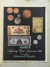 Spring and Summer 1976 Hanig's Johnston and Murphy Shoe Shop Booklet