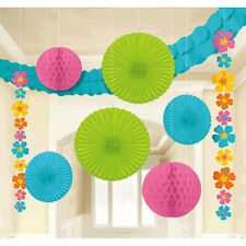Hibiscus Hanging Room Decorating Kit ~LUAU SUMMER HAWAIIAN Birthday Party Supply