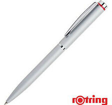 ROTRING   PEN  SYDNEY  SATIN STEEL  & SILVER METAL BALLPOINT PEN   NEW