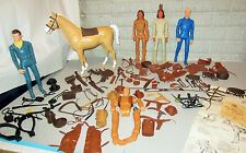 VTG Lot of 5 Marx Johnny West Action Firgures & Over 80 + Accessories Indians