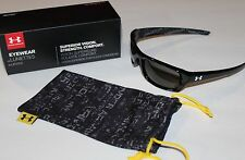 Under Armour UA Surge Sunglasses Women Youth Shiny Black Sport Golf 8600033-5100
