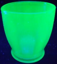 Cobalt Blue Vaseline glass Juice cup tumbler goblet uranium coffee / small child