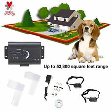 Underground Electric Dog Fence System Waterproof Shock Collars For 2 Dogs Audio