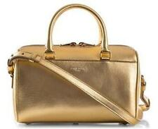 YSL Yves Saint Laurent Metallic Gold Leather Duffle Toy Crossbody Bag $1550
