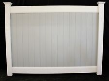 80' Two Tone Gray & White 6' x 8' Solid Privacy Vinyl Fence Sections & Posts