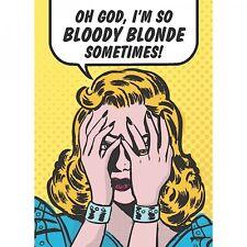 Retro humor 1950? por qué estoy tan sangriento Rubia. Cocina FRIDGE MAGNET, Chicas/Nena