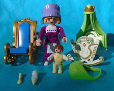 Playmobil Fairy Tales Royal Nursery ~ Nanny Baby Cradle Rocking Chair from 4254