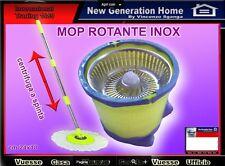mocio rotante Secchio Lavapavimenti Rotante.microfibra centrifuga con ricambio