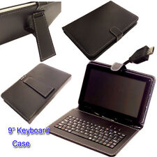 "9"" PU LEATHER  KEYBOARD CASE COVER for 9 inch Android 4.2 A20 A13 A23 MID Tablet"