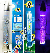 "28"" Colour Changing Aquarium Bubble LED Lamp Novelty Fish Water Mood Light 71cm"