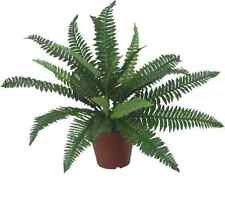 Silk Boston Fern Bush - Green Artificial Plant