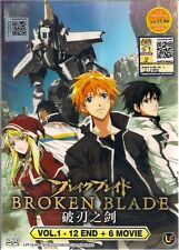 BROKEN BLADE VOL. 1-12 END + 6MOVIES JAPANESE ANIME DVD + FREE SHIPPING