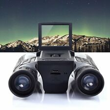 12x32 HD Black Binoculars Telescope Folding with Built-in Digital Camera G#