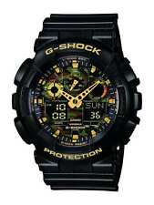 Mens Watch GA 100CF 1A9ER By Casio G Shock Black Tiger Camouflage