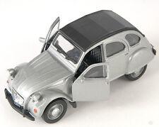 BLITZ VERSAND Citroen 2 CV geschl. silber  silver Ente Welly Modell Auto NEU OVP