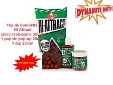 1kg bouillette DYNAMIT BAIT Hi-Attract Spicy Crab & Garlic dip + pop up