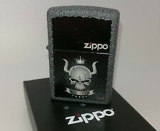 Geniune Iron Stone Finish Skull Crown Zippo Lighter.  Goldmine Jewellers.