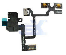 Black Headphone Flex Cable for Iphone 4/4G GSM ATT Volume/silent/headphone