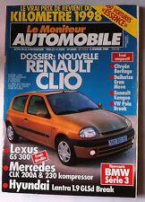 Le moniteur Automobile 5/2/1998; Le vrai prix de revient du KM Essence/ Clio