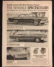 Original 1965 RAMBLER Car Ad ~ Vintage Advertisement AMERICAN Classic AMBASSADOR